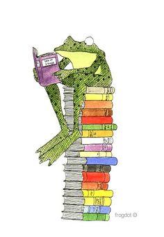 I would croak without books! frogdot©  http://sunnydaypublishing.com/books/