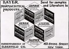 Old Bayer ad for heroin  The Deadly Drug That Used to Be a Popular Medicine  Read more: The Deadly Drug That Used to Be a Popular Medicine   Flashback   OZY