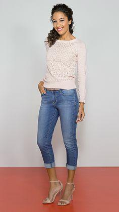 DENIZEN® Jeans Essential Stretch Modern Straight Crop in Tribute.