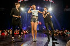 """Tegan and Sara showed up Tuesday as Taylor Swift's surprise guests to sing """"Closer"""" at the Staples Center in Los Angeles, the Calgary twins had friends in the audience. """"I was like, 'Be prepared. We pop out of the stage,'"""" Tegan Quin tells Rolling Stone with a laugh."""