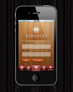 Iphone App Design for KarmaLife.