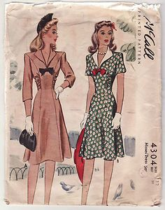 1941 McCall 4304 -- the one on the left <3 -- Eatl