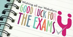 Good luck for exams!