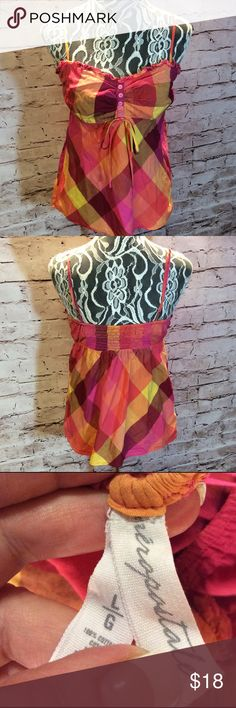 ADORABLE AEROPOSTALE BABYDOLL STYLE BLOUSE Beautiful vibrant colors and gorgeous plaid pattern with adjustable straps. Gently used Aeropostale Tops Blouses