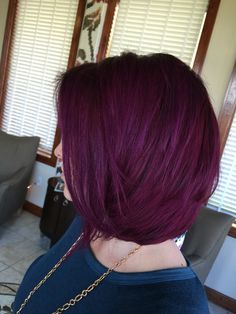Igora Royal permanent hair color. 6-99 roots. Half 6-99 half 9-98 mid shaft to ends!  Enjoy!
