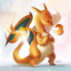 006 - Charizard by TsaoShin on DeviantArt Pokemon Images, Pokemon Pictures, Geeks, Deviantart Pokemon, Pop Culture Art, Kawaii Drawings, Anime, Best Artist, Spirit Animal