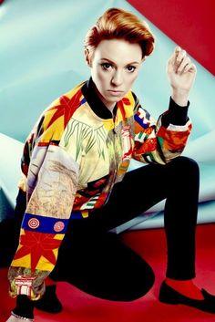Elly Jackson / LA ROUX / NME Magazine, London 2014 / Hair: Kevin Fortune - London