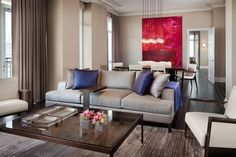 Lincoln Park Luxury High Rise Model Apartments  Designed by Holly Hunt Interiors contemporary living room