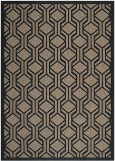 Gustine Brown/Black Indoor/Outdoor Area Rug