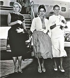 Grace Kelly, Elizabeth Taylor and Laraine Day