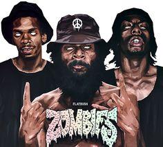 Flatbush Zombies Poster - 18 x 16