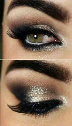 Smokey eye makeup. 1920's party.