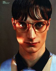 """cocaineabuse: """" Thomas Bukovatz in Boys Yuangui Mei for GQ Style China SS 2013 """" Linda Farrow Sunglasses, The Fashionisto, Gq Style, Face Light, Feeling Happy, Male Models, Boy Fashion, Personal Style, China"""