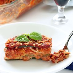 Vegan Zucchini Lasagna - Creamy herbal vegan ricotta blends smoothly with a robust marinara. A new Italian classic! (Gluten-free and Soy-free)