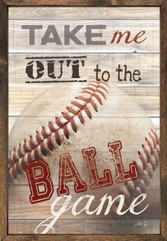 Take Me Out to the Ball Game Vintage Framed Art Print                                                                                                                                                                                 More