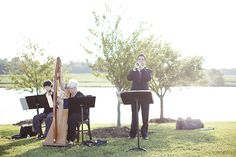 Violin, Harp, & Trumpet wedding musicians.  Elegant and one of my favorite decisions I made!!