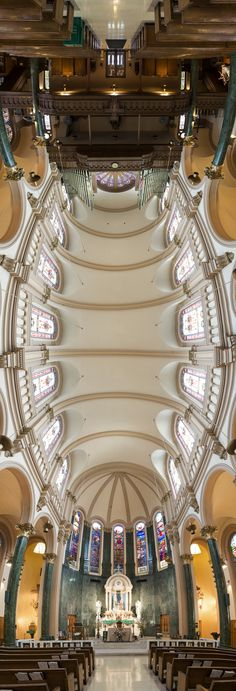 Incredible Vertical Panoramas of New York Churches by photographer Richard Silver