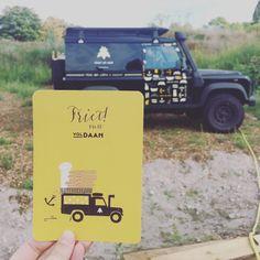 """Postcard and Landrover design for """"Friet de Mer"""" foodtruck"""