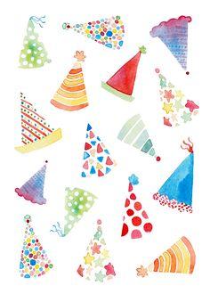Felicity French Illustration Source by inespoetter . Happy Birthday Cards, Birthday Greeting Cards, Birthday Greetings, Birthday Wishes, Birthday Party Hats, Birthday Fun, Illustration Inspiration, French Illustration, Birthday Wallpaper