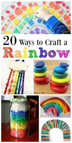 20 Craft & fine motor activity ideas for Kids -- Fun ways to learn the Colors of the Rainbow