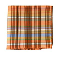 Wild Plaid - Oranges Pocket Square thetiebar.com