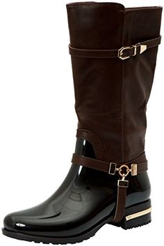 Forever Link Women's Motorcyle Quilted Buckle Boots
