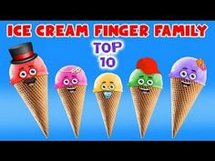Ice Cream Finger Family Song - Top 10 Finger Family Songs - Daddy Finger Rhyme - added by fingerfamilysong in Best Finger Family Songs 2017 Finger Family Song, Family Songs, Kids Songs, Finger Rhymes, Finger Family Collection, Nursery Rhymes Collection, Songs 2017, Daddy, Ice Cream