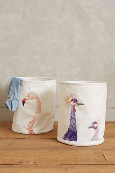 Avian Beauty Laundry Hamper #anthrofave #anthropologie.com