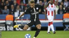 A Neymar hat-trick inspires Paris St-Germain to an emphatic Champions League Group C victory over Red Star Belgrade at the Parc des Princes. Red Star Belgrade, Psg, Real Man, Neymar, Champions League, Scores, It Is Finished, Football, Baseball Cards
