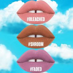 New Velvetines available NOW on www.limecrime.com! Get 'em now before they're gone!  #Bleached #Shroom #Faded