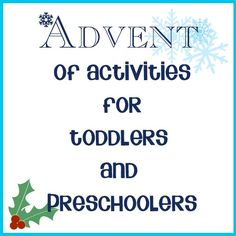 Fantastic list of advent activities for toddlers and preschoolers, swap the gifts and chocolate for experiences to do together as a family this year that even the youngest members can enjoy