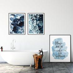 Don't Coke In The Bathroom, Funny Bathroom Printable Wall Art by LilaPrints. Bathroom Prints, Funny Quotes, Dorm Room, Bathroom Wall Decor, Funny Gifts #wallartquotes #homedecorating #homedecorideas #nurserydecor