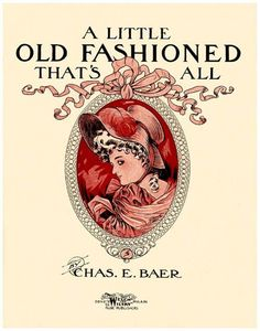 Vintage Song Poster - Old Fashioned