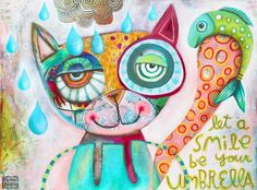 NEW Let Smiles Be Your Umbrella Print by AllenDesignsStudio, $20.00