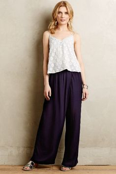 Draped Seton Wide-Legs - anthropologie.com #anthrofave