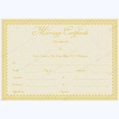 Marriage Certificate GLD) - Get high quality, professionally designed template. Templates are available in Word & PDF Formats. Wedding Certificate, Marriage Certificate, Certificate Design, Certificate Templates, Good Marriage, Happy Marriage, Marriage Advice, Five Love Languages, Marriage Records
