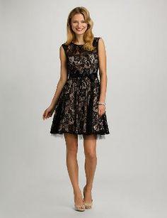 Love this lace little black dress!! Super cute and classy! #dressbarn #outletsatvburg