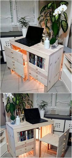 Freshen and Clever Wood Pallets Reusing Ideas Freshen and Clever Wood Pallets Reusing Ideas Brian Stephens briankilledit House &; Upstairs This is simply so creative designed wood […] table decoration for home Wood Pallet Planters, Wooden Pallet Projects, Wood Pallet Furniture, Unique Furniture, Wood Pallets, Pallet Ideas, Diy Projects, Study Table Designs, Pallet Seating