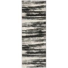 Safavieh Retro Dark Grey/ Light Grey Rug (2'3 x 11') - Overstock™ Shopping - Great Deals on Safavieh Runner Rugs
