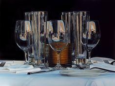 At first glance, these beautiful still life images seem like photographs. In reality, they are actually hyperrealistic paintings by artist Jason de Graaf.