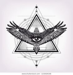 Scary Tattoos, Dope Tattoos, Unique Tattoos, Leg Tattoos, Body Art Tattoos, Shiva Tattoo Design, Maori Tattoo Designs, Tattoo Aigle, Geometric Eye Tattoo