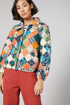 Stitched Up Quilted Jacket. Jacket in Print, Multi Gorman Clothing, Print Jacket, Quilted Jacket, Winter Outfits, How To Wear, Jackets, Clothes, Winter Coats, Women