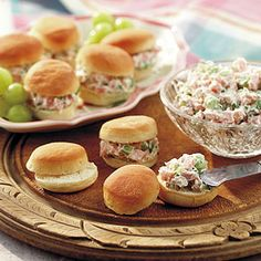 Ham Spread on Mini Rolls. I relied on Grandma's recipe to make easy finger food snacks for  the first party  I hosted  on my own.