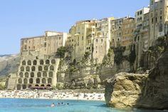 The big advantage with Europe travel packages is that they can lower the overall cost of your trip, and if you're new to European travel then a package will Places In Italy, Places To See, Italy Vacation, Italy Travel, Italy Trip, Calabria Italy, Tropea Italy, Seaside Resort, Southern Italy