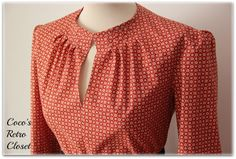 Coco'sRetroCloset: Another Blouse With 3/2008 Burda Pattern