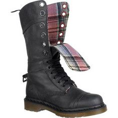Dr Martens Triumph 1914 - I have and love these. The leather is softer than most Martens, the lining is adorable, they come with ribbons AND regular laces, and you can fold the calf down and buckle it in back for a different look! Really fun to play with.