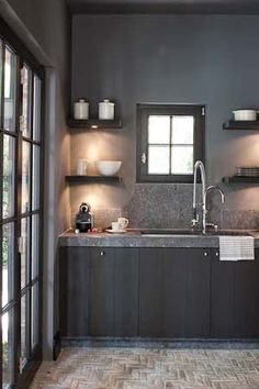 Painting Kitchen Cabinets Colors Gray Interior Design Ideas For 2019 Kitchen Cabinet Colors, Painting Kitchen Cabinets, Kitchen Colors, Kitchen Paint, Grey Interior Design, Home Interior, Kitchen Interior, Interior Decorating, Interior Designing