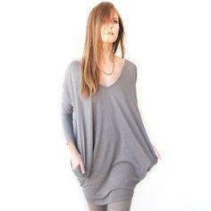 Long Sleeve Tunic Gray