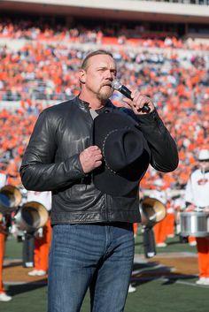 Trace Adkins sings the National Anthem - Oklahoma State University vs University of Kansas Football Game, Saturday, November 9, 2013, Boone Pickens Stadium, Stillwater, OK   Flickr ...