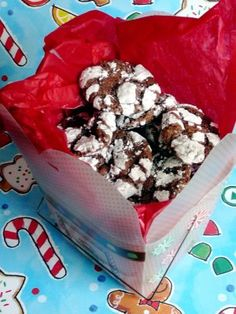 Chocolate Crinkle Cookies - good but I expected better (Dan loved them). Also made some w/o powdered sugar.